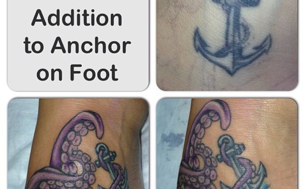 Repair & addition to anchor on foot