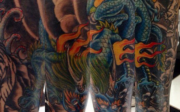 Third session on Japanese dragon/tiger lower leg