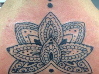 Lotus on back pt 2. Henna inspired