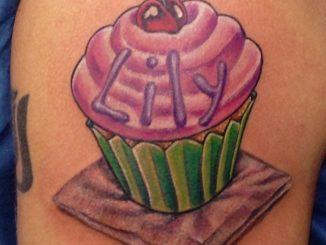 Daughter's cupcake