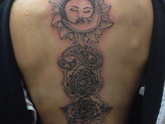 Sun & Flower back