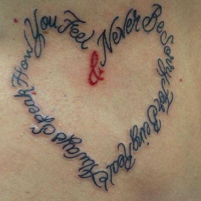 Heart lettering