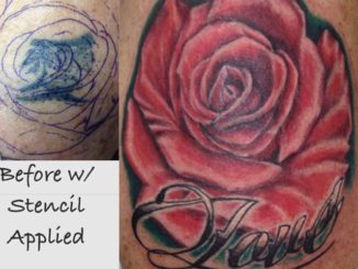 Realistic rose cover-up