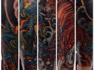 Japanese lower leg tiger & dragon final