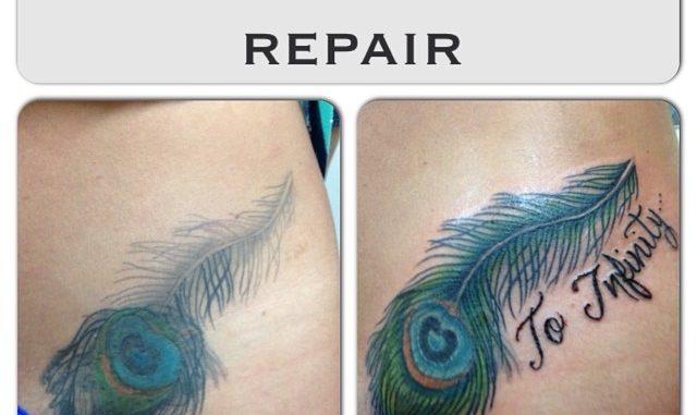 Peacock feather repair