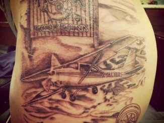 First session on airplane memorial
