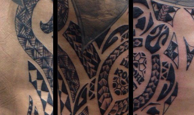Polynesian tribal ribs