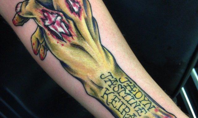 Zombie arm w/ names