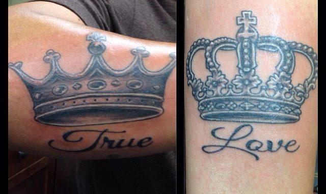 Matching crowns w/ True Love