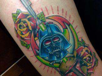 Finished neo-traditional Star Wars thigh