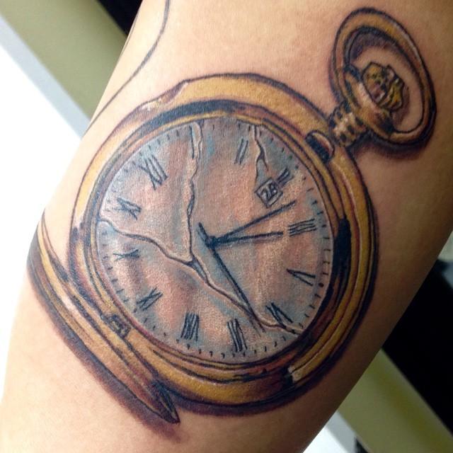Broken pocket watch